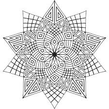 Geometric Flowers Mandala Coloring Pages