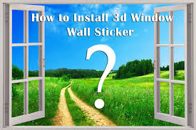 Wall Mural Decals Beach by How To Install 3d Window Murals Peel And Stick Removable Wall