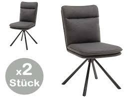 eileen stuhl 2er set 180 drehbar mit rückholfunktion grau günstig möbel küchen büromöbel kaufen froschkönig24