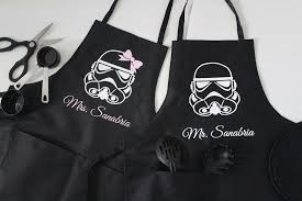 mr and mrs wars cooking aprons