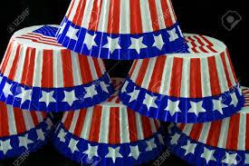 American Cupcake Cases Stock Photo
