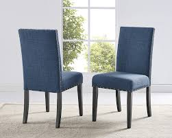 Roundhill Furniture Biony Blue Fabric Dining Chairs With Nailhead Trim, Set  Of 2 Details About Set Of 2 Classic Parson Ding Chairs Living Room Nailhead Trim Tall Backrest Tan Parsons Merax Stylish Tufted Upholstered Fabric With Detail And Solid Wood Legs Beige Kaitlin Transitional Style Nailhead Trim 7 Piece Ding Set Chair Ginnys Armless Abbyson Sienna Leather Hooker Fniture Sorella Side Turned Lionel Modern Grey Wing Back Ambrosia Rustic Bar Wilson Home Ideas How To Make Black