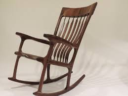 sam maloof rocking chair class sam maloof inspired walnut rocking chair by yellowtruck75