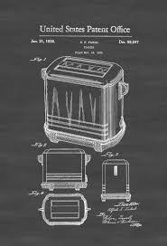 Toaster Patent Print