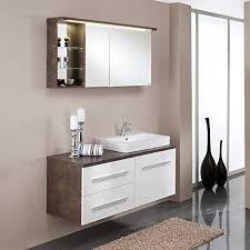 pharao24 spiegelschrank in rost optik mit waschtisch