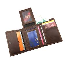 rfid blocking genuine leather wallet with credit card holder short