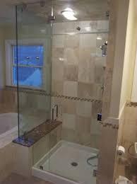 tile shower fiberglass shower pan bathroom