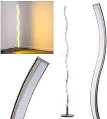 led stehleuchte dillon aus metall geschwungene bodenleuchte standle für schlafzimmer wohnzimmer esszimmer retro stehle mit