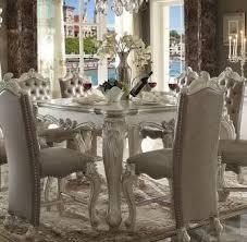 Acme Furniture White Versailles Dining Room Set Classic 5pcs 2295