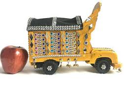 Yellow Unique Toy Truck Handmade Southeast Asia Pakistani Afghani Customized Freight