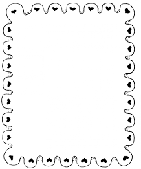 Best Black And White Heart Border Vector Draw