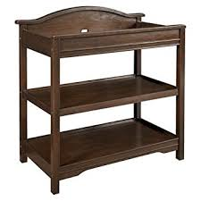 Ed Bauer Langley Open Changer Walnut Kids Furniture Changing Table Shelves