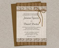 Rustic Wedding Invitations With Burlap Lace And Twine DIY Printable Invitation Cards