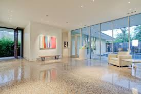 Dallas White Terrazzo With Incandescent Flush Entry Modern And Nelson Bench Gallery