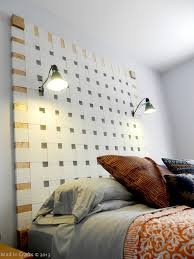 Headboard Lights For Reading by Remodelaholic 50 Diy Handmade Headboards Link Party