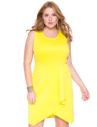 mesh and scuba dress women u0027s plus size dresses eloquii