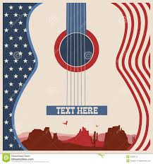 Poster Of Concert Music Festival With Guitar