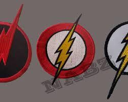 The Flash Lightning Bolt Logo Iron Sew On Patch Badge