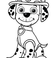 Marshall Paw Patrol Coloring Page Pages Sitting In Front