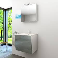 badmöbel set gently 1 v1 weiß grau badezimmermöbel waschtisch 60cm nein ohne led beleuchtung