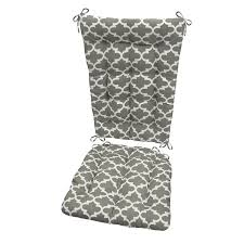 Amazon.com : Fulton Grey Porch Rocker Cushion Set - Standard ...