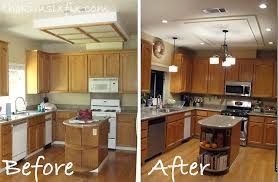 replace fluorescent light fixture in kitchen removing a