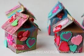 Recycled Milk Carton Birdhouse Craft For Kids