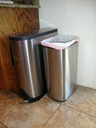 Slim Bathroom Trash Can With Lid by Slim Trash Can With Lid Black Skinny Can By Umbra Slim Bathroom