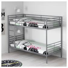 svärta bunk bed frame silver colour 90x200 cm ikea