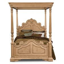 Value City Furniture Metal Headboards by Bedroom Light Brown Polished Teak Wood Canopy Bed With Carved