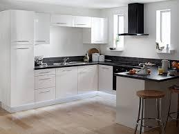 White Kitchen Appliances Design Cabinets Black