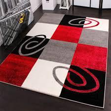 design teppich wohnzimmer karo muster