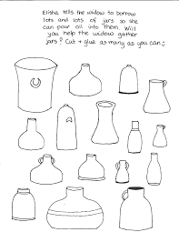 Elisha Oil Jars Colouring Pages