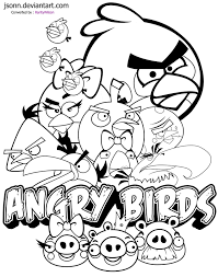 Angry Birds Coloring Page And Printable Pages