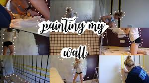 PAINTING MY WALL Aesthetic Tumblr Room Decor
