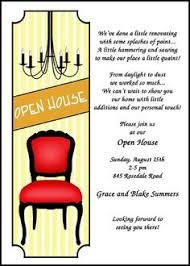 Lots Of Unique Open House Party Invitations With Chandelier And Chair At InvitationsByU
