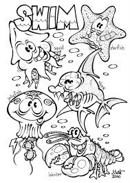 Sea Creatures Coloring Pages Free Printable Ocean For Kids Pictures
