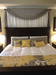 Headboard Designs For Bed by Best 25 Curtain Behind Headboard Ideas On Pinterest Curtains