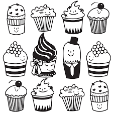Black And White Cupcake Drawing Black And White Cupcake Drawing Black And White Cupcake