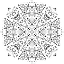This Is Wildflower Meadow One Of Over 100 Printable Mandalas For You To Color