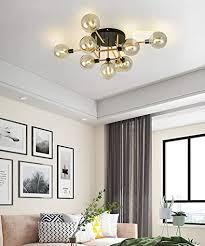 deckenleuchte wohnzimmer led gold 9 flammig minimalistisch