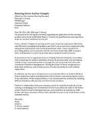 How To Write A Cover Letter For Nursing Job cover letter sample