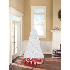 Unlit Christmas Tree by Holiday Time Unlit 6 5 U0027 Jackson Spruce White Artificial Christmas
