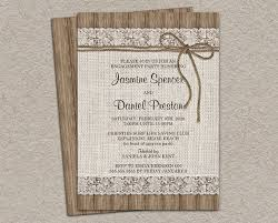 Rustic Engagement Invitation With Burlap And Lace DIY Printable Party Invitations
