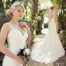 Vintage Lace Mermaid Sexy Modest Wedding Dresses 2017 Spaghetti Strap Dress Turkey Elegant Bridal Bride Gowns In From