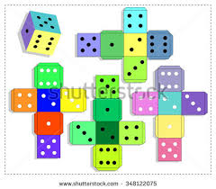 Dice For Board Game Template