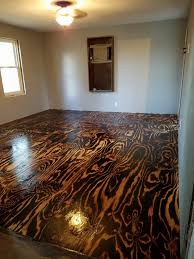 Plywood Sheet Flooring Bob Schoenfelder Burned Floor