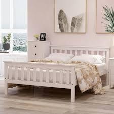 azkoeesy doppelbett bettgestell kiefernbett 140 x 200cm hochwertiger holzbettgestell mit kopfteil und lattenrost 140 x 200 cm klassische betten