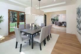 Rectangular Chandelier Dining Room Lighting Fixture Crystal Modern