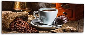 kd dsign glasbild ag312500307 mural kaffee schokolade 125 x 50 cm wandbild deco glass handmade